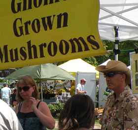 Mushroom Market at the Farmers Market