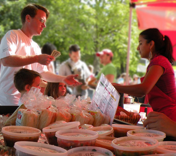 Rico's Farmers market stand has been in operation for 10 years.