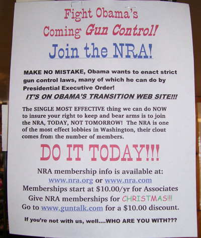 Join the NRA. Fight the Man.