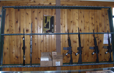 Empty Rack for Guns