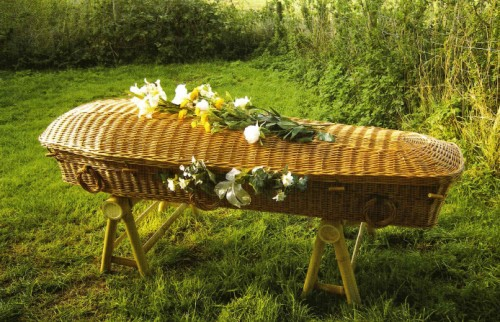 green burial willow coffin