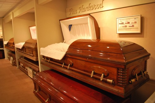 cherry wood coffin