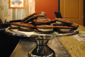 homemade oreos at Red Moose Coffee