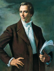 Gittins most famous painting of Joseph Smith.