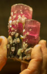 Gem's are a part of Robert's many collections. This watermelon tourmaline specimen was found in California.