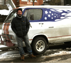 "Journeyman Trek Thunder Kelly drives from state to state in his 1969 GMC Handi-Van, ""Chief."""