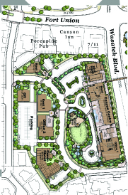 Cottonwood Heights Developments Plans and the existing businesses.