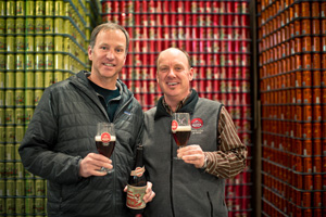 Uinta Owners Will Hamil and Steve Kuftinec celebrate  Uinta's 20th-year anniversary with a Birthday Suit Sour Brown Ale