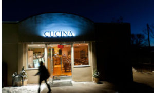 The Cucina exterior after dark. Cucina is located at 1026 E. 2nd Ave.