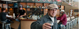 Chris Haas is the Head Brewer at the Desert Edge Pub in Trolley Square