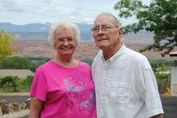 Arlis and Kent Roberts started growing grapes for wine in Moab 35 years ago.
