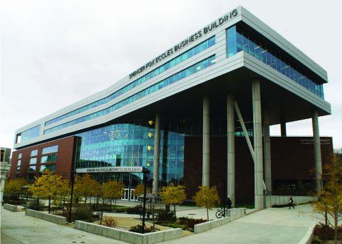 The Spencer Fox Eccles Business Building cost $57 million to build.