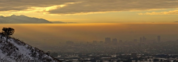 Salt Lake Valley Air Pollution Panorama