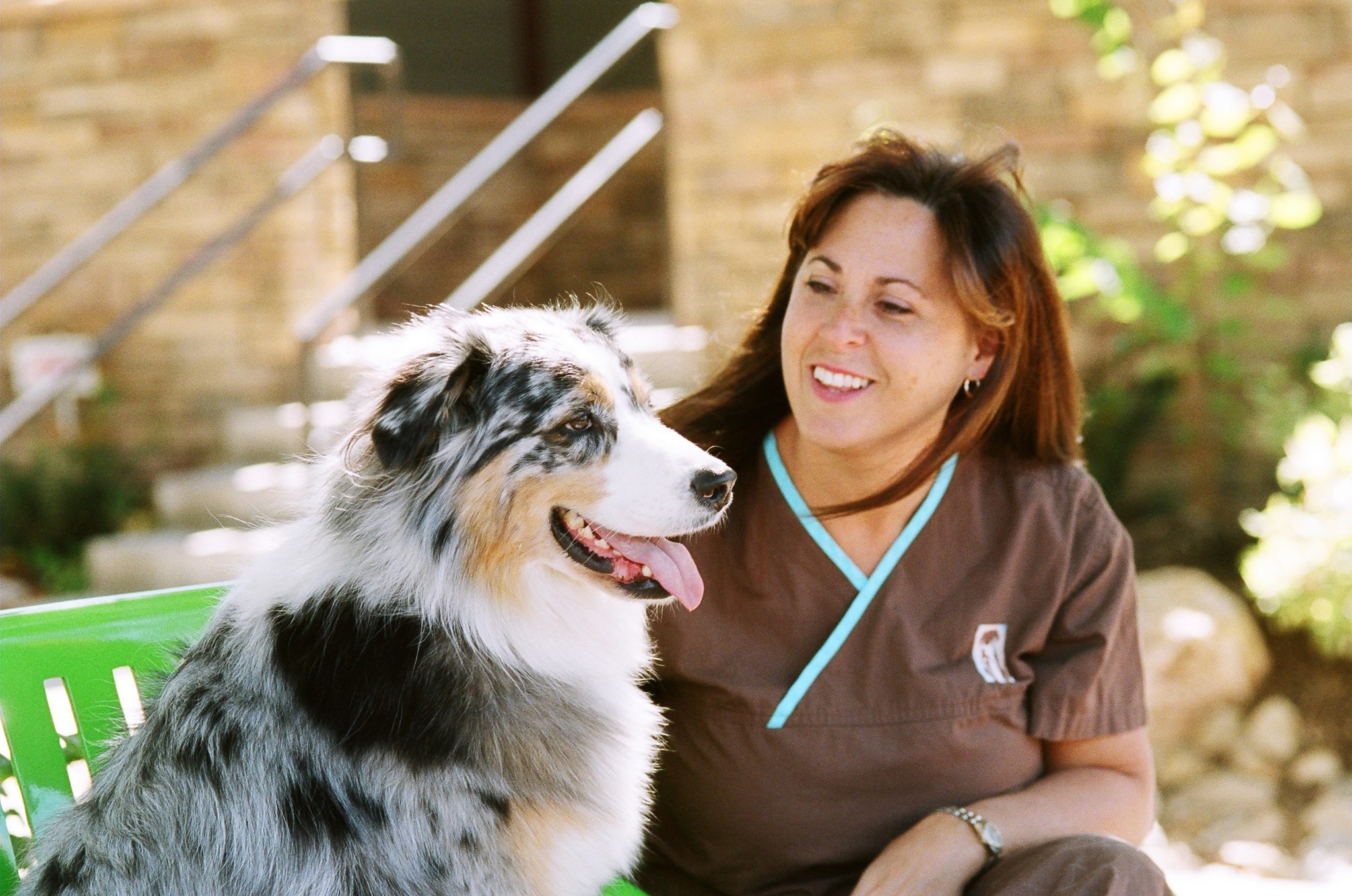 Dr. Lynn McCarron with her dog, Jed.
