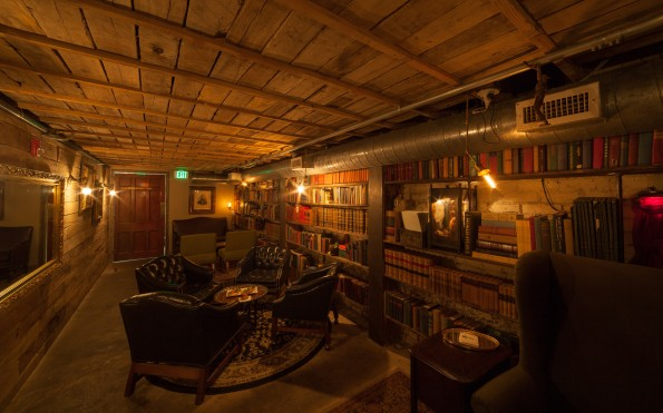 The library at the Rest is a cozy setting to enjoy a cocktail.