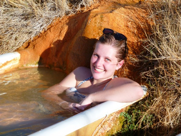 P1010166 Leonora Collett, from Australia enjoying hot springs