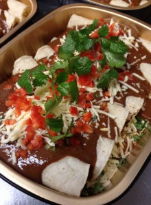 Cheese Enchilada with red mole