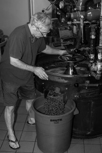 John Bolton of Salt lake Roasting co. roasting a Maunier panama -2 resized