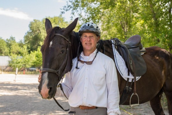 Trainer Todd Howard and Patton the horse