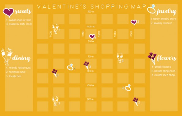 Valentines Shopping Map