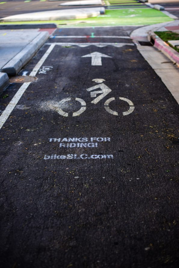 Bike lane near redrock