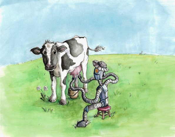 Cow and Robot Molina_UT Stories