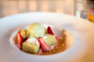 hsl-august-2016-olive-oil-cake-with-rhubarb-strawberries-and-celery-sorbet-caroline-hargraves-salt-tooth